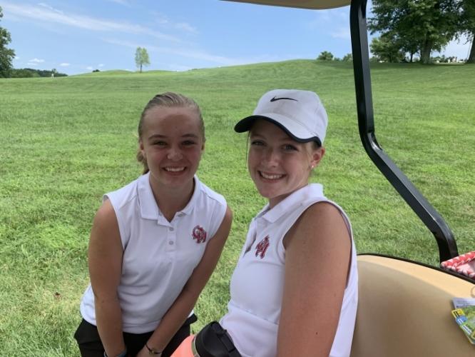 Oak Hills Girls' Golfers - Lucy Rankin and Erin Kumler - Friends Forever!