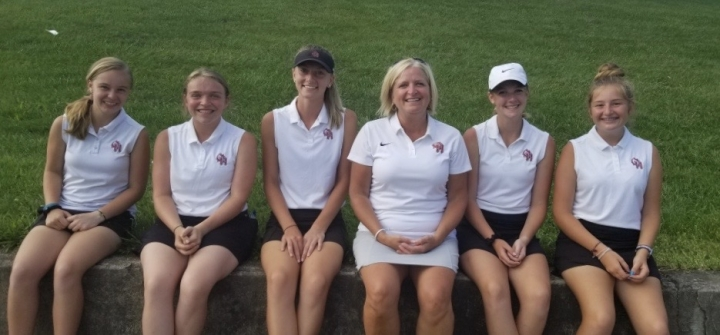 Oak Hills Girls' Golfers smiling at their success in Northern Kentucky!