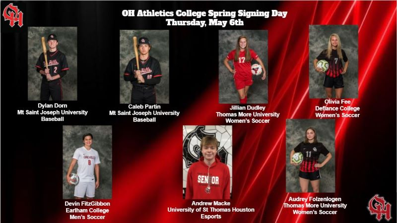 Senior Athletic Signing Day, May 6th Athletes (1 of 3)