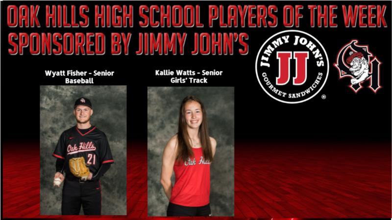 Jimmy John's Players of the Week, Kallie Watts and Wyatt Fisher