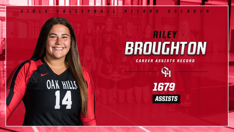 Senior Captain Riley Broughton Sets New Career Assist Record For Girls' Volleyball