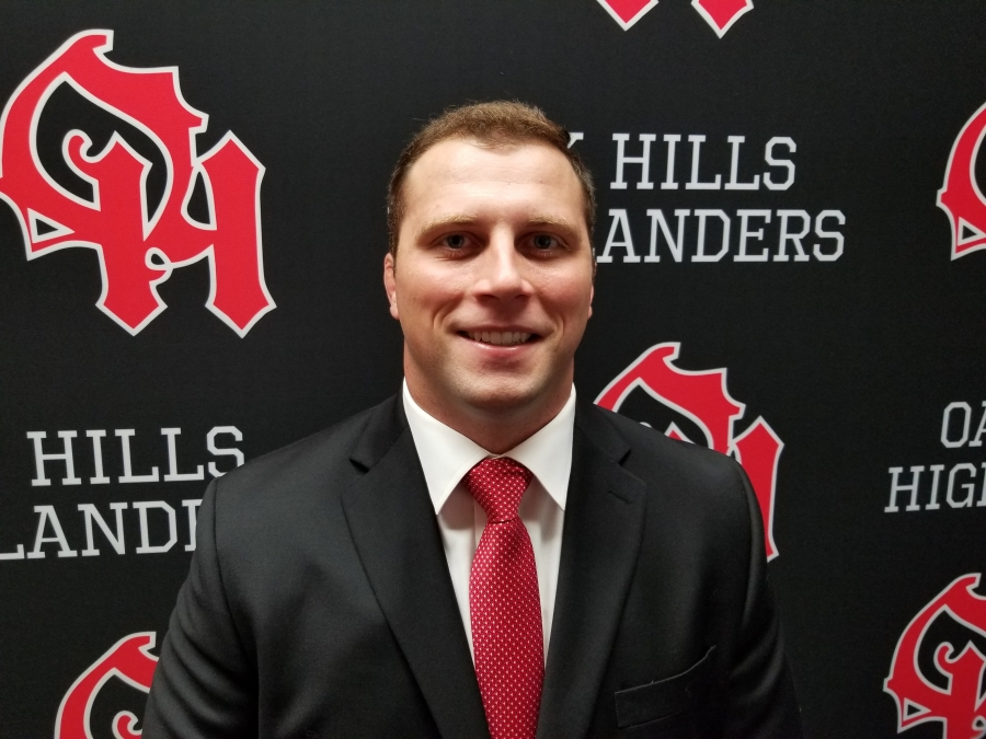 Image of Ryan Quinn new Oak Hills Wrestling Coach